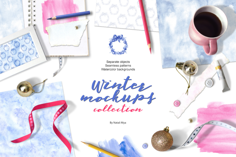 Free Winter mockups collection (PSD Mockups)