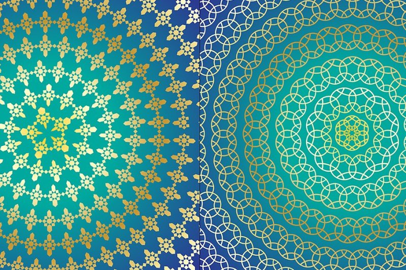 blue-and-gold-moroccan-circular-patterns