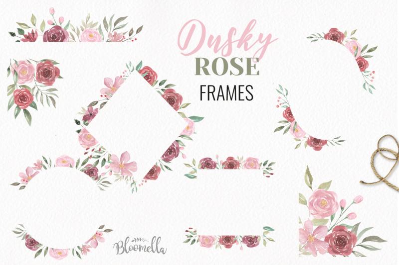 dusky-rose-pink-red-watercolor-huge-package-flower-floral-patterns-set