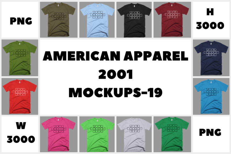 Free MEGA BUNDLE American Apparel 2001 Mockups - 19 (PSD Mockups)