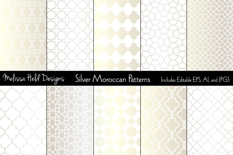 silver-moroccan-patterns
