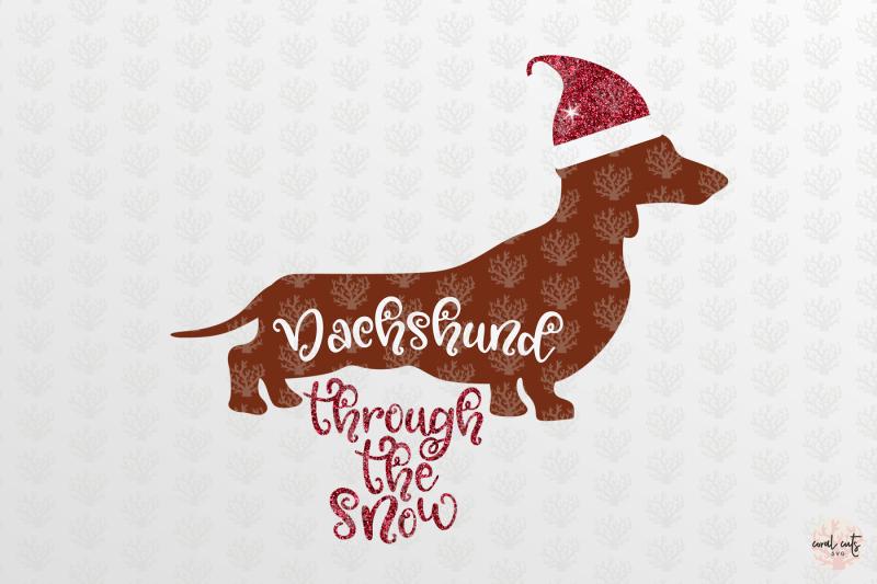 dachshund-through-the-snow