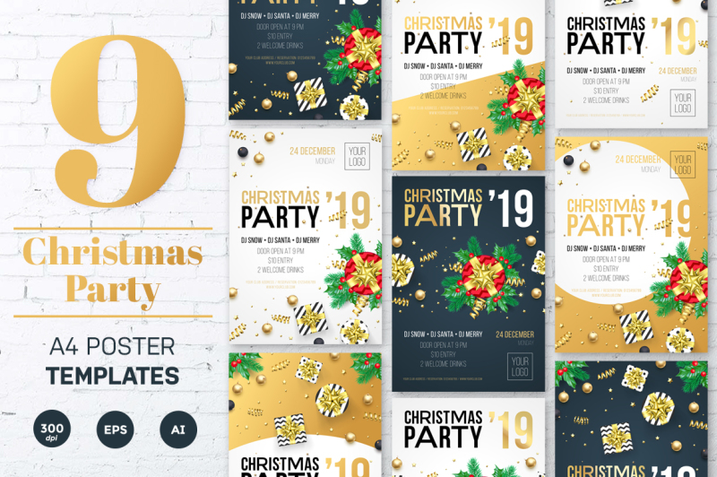 christmas-party-invitation-tempates