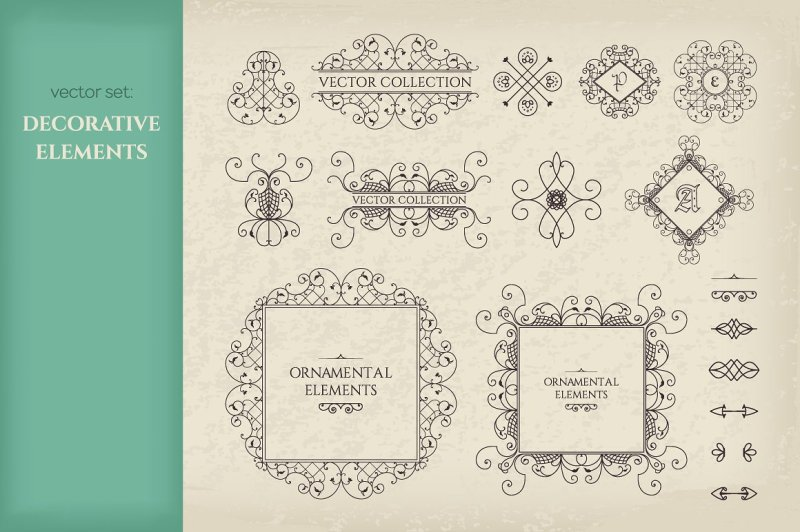 vector-set-of-page-decorations
