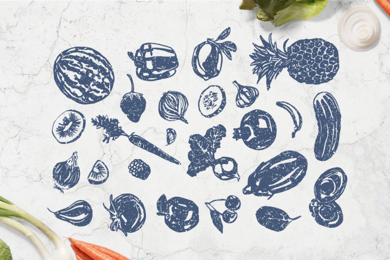 linocut-style-vegetables