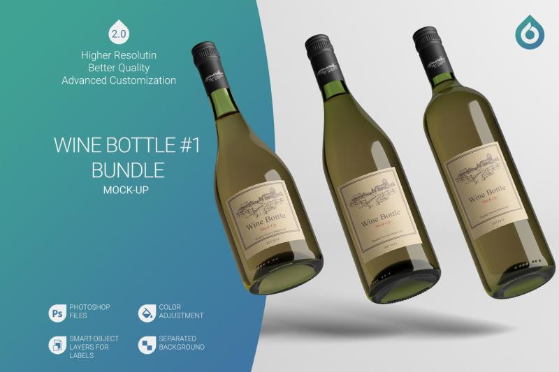 Free Wine Bottle Mock-Up (PSD Mockups)
