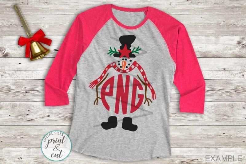 snowman-christmas-monogram-cute-vintage-old-style-svg-cut-file