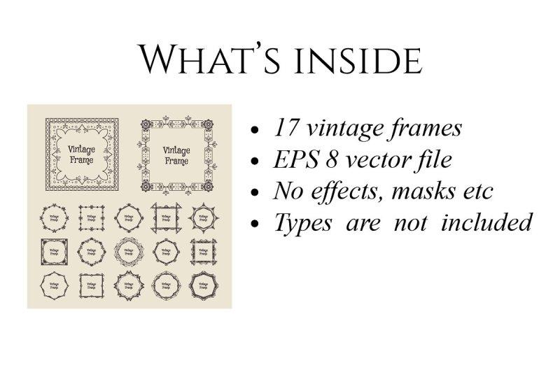 17-vintage-frames-set
