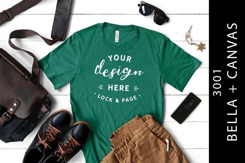 men-s-kelly-bella-canvas-3001-mockup-t-shirt-masculine-setup