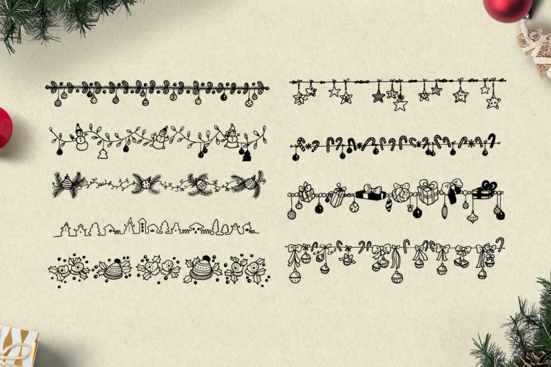 150-hand-drawn-elements-christmas