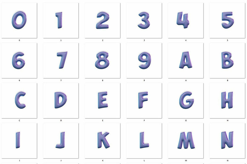 balloons-3d-lettering
