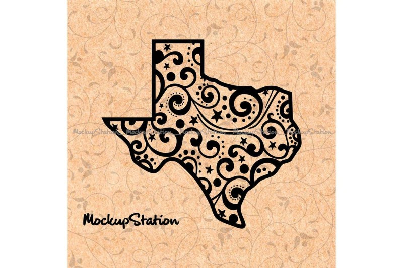 texas-christmas-floral-winter-mandala-svg-cut-file