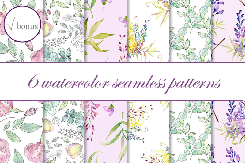 watercolor-seamless-patterns