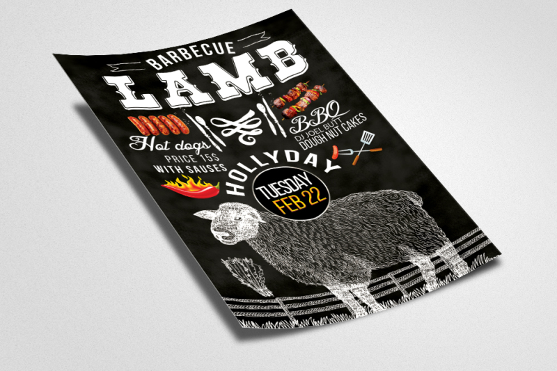 lamb-barbecue-party-flyer