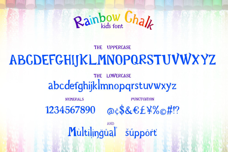 rainbow-chalk-fun-kids-font-patterns