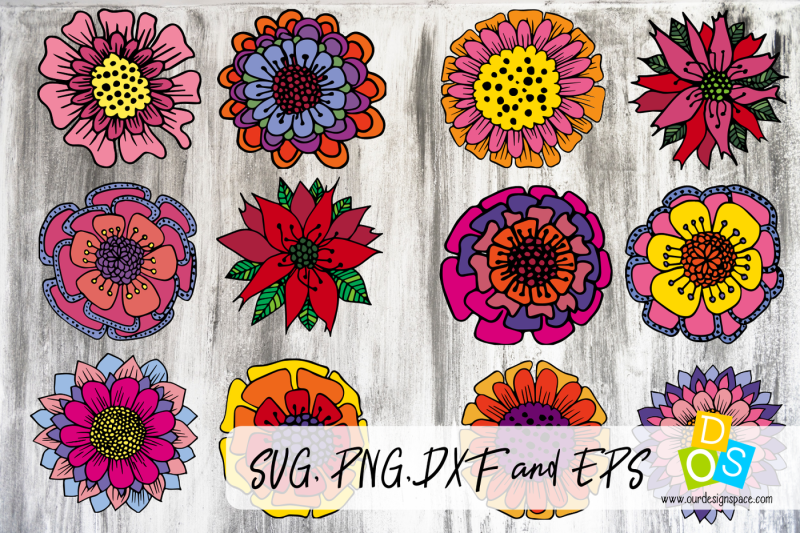 12-doodle-christmas-flowers-svg-png-dxf-and-eps-files