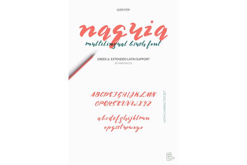 multilingual-brush-font-naquia-font