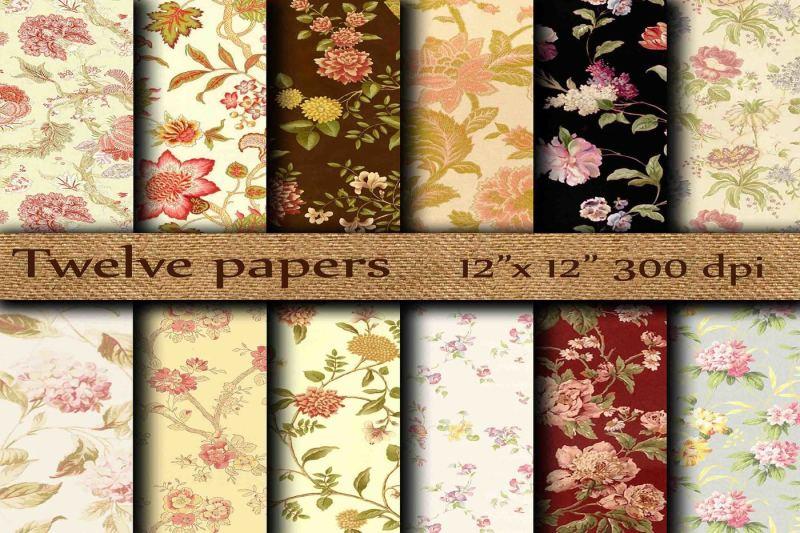 floral-digital-papers