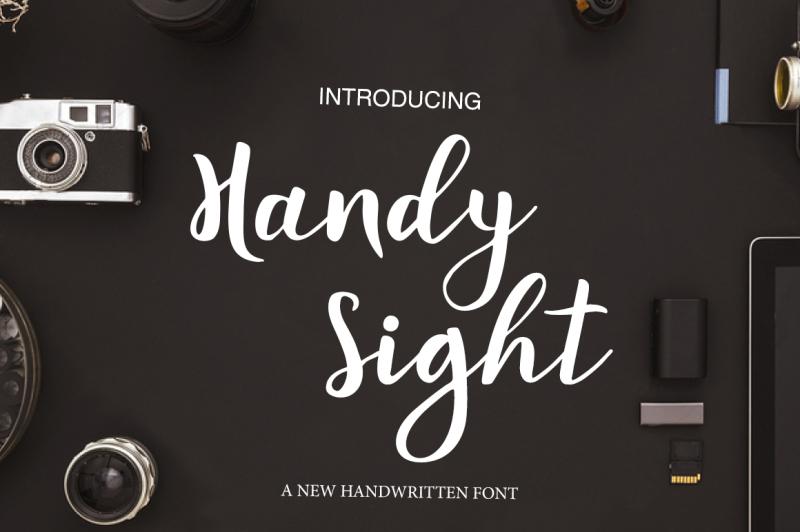 handy-sight-brush-font