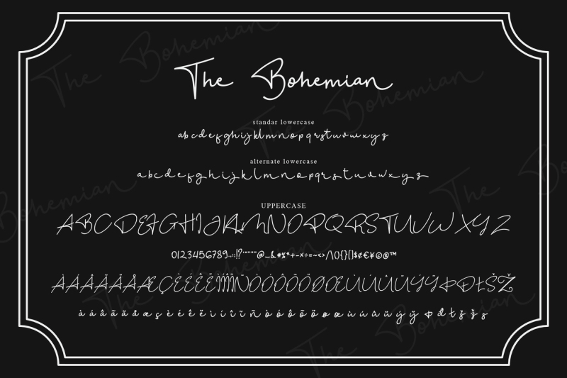 the-bohemian-a-signature-font