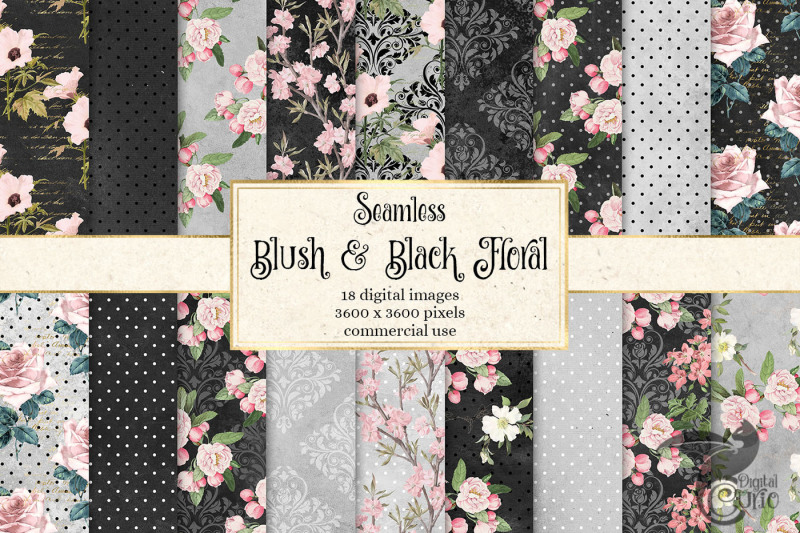 blush-and-black-floral-patterns-digital-paper