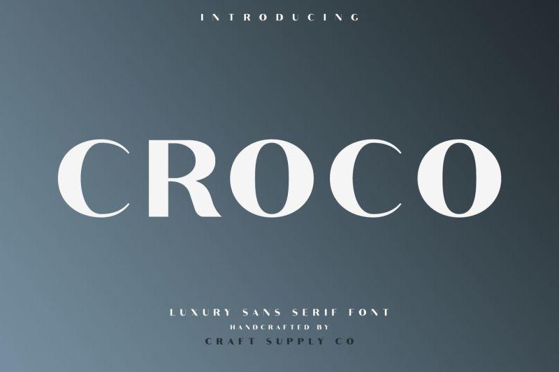 croco-luxury-sans-serif-font