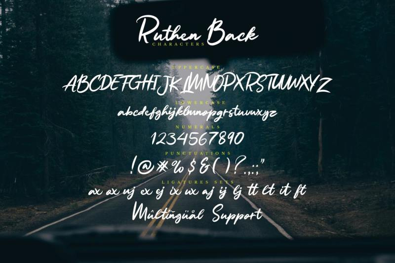 ruthen-back-stylish-font