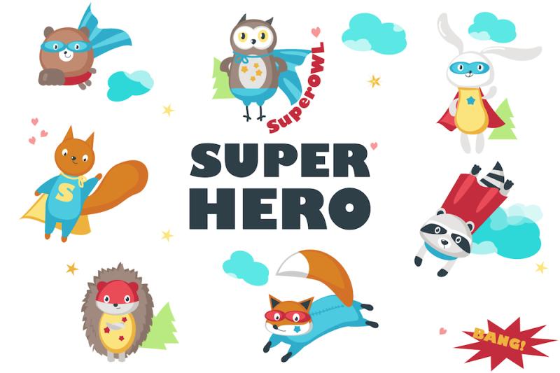 superhero-animals-and-pattern