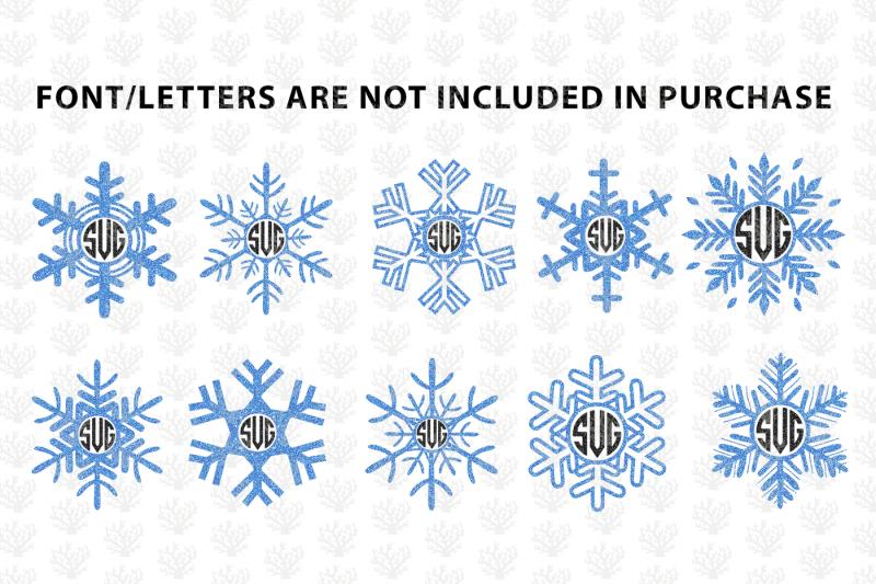 snowfall-svg-monogram-frame-bundle