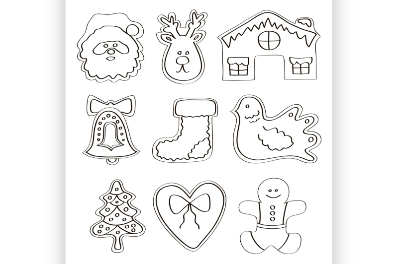 vector-set-of-gingerbread-cookies