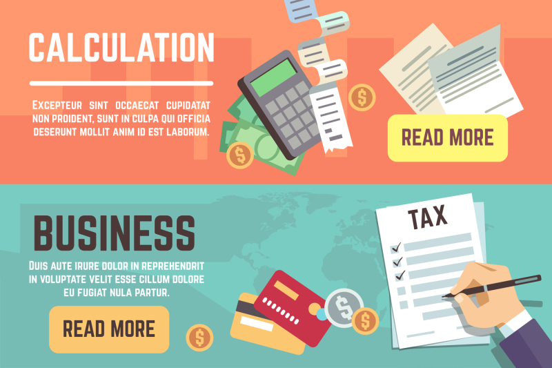 online-tax-accountanting-taxation-business-finance-vector-banners-se
