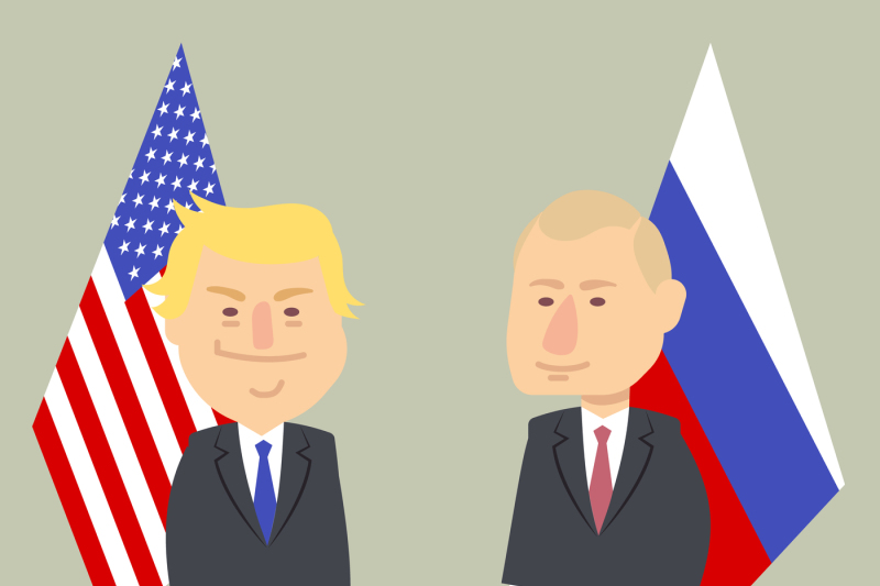 donald-trump-and-vladimir-putin-standing-together-with-russian-and-usa