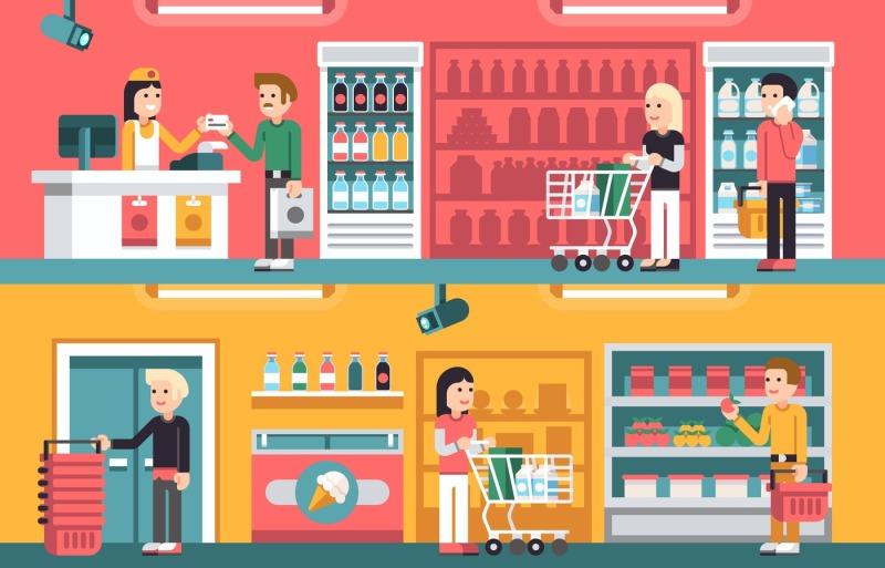 shopping-people-and-counter-in-super-market-interior-retail-vector-co