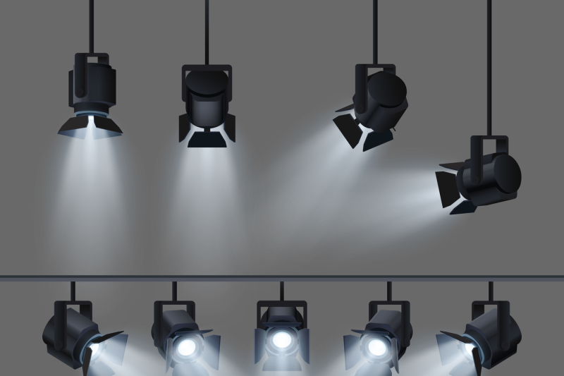 spotlights-with-bright-white-light-shining-stage-vector-set