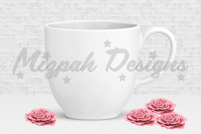 Free White Blank Mug Mock up Coffee Mug Cup White Minimalist Plain Mock up (PSD Mockups)