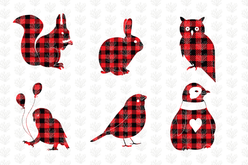 buffalo-plaid-svg-bundle-christmas-animal-and-birds-svg