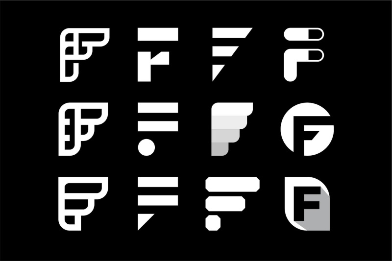 letter-f-mark-collection-logo-template