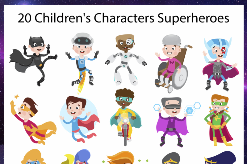 superheroes-children-039-s-set