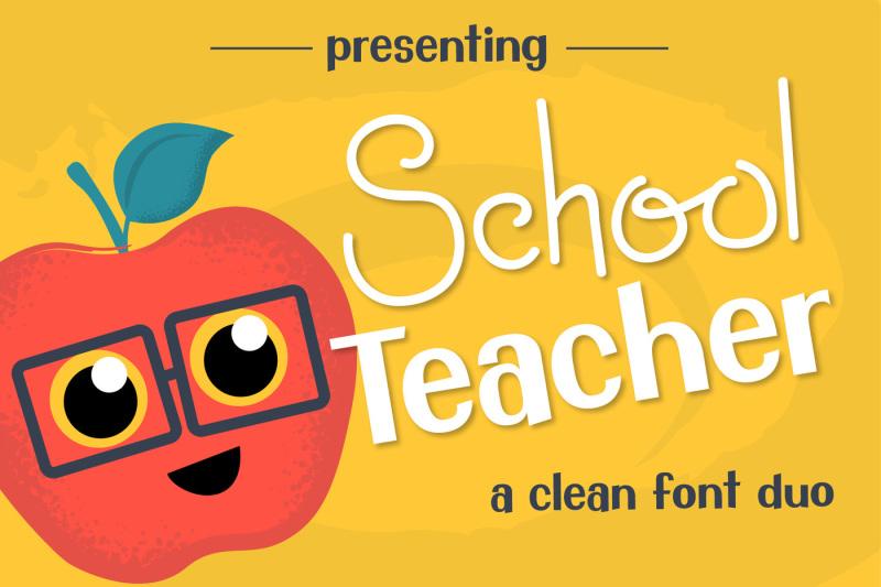 school-teacher-font-duo