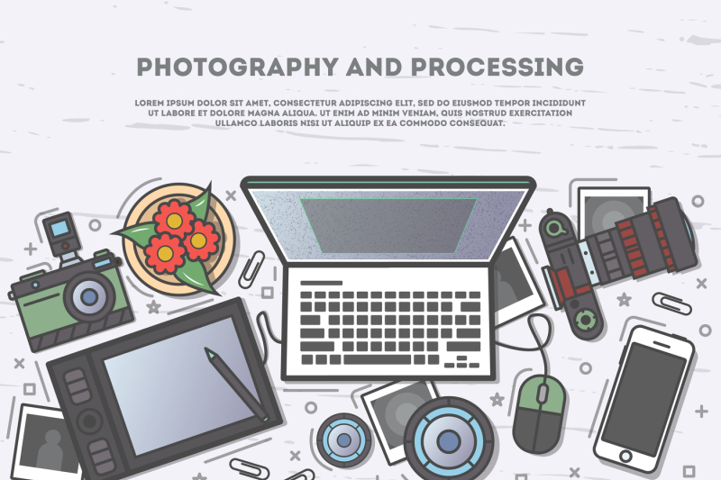 photography-and-processing-top-view-banner