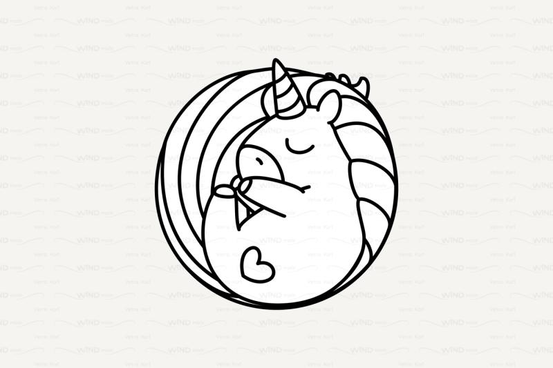 vector-cute-outline-unicorn