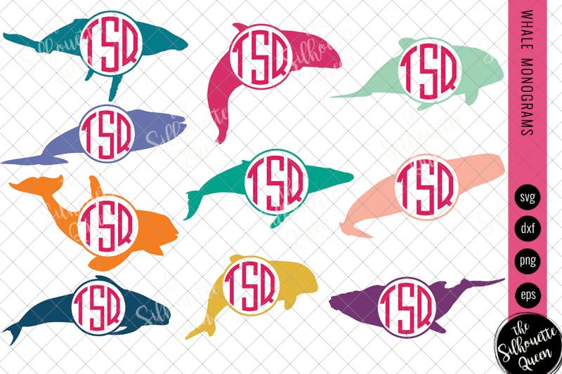 whale-svg-monogram-svg-circle-frames-cuttable-design-cut-files-silho