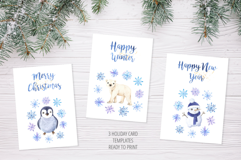 watercolor-cute-winter-animals-set