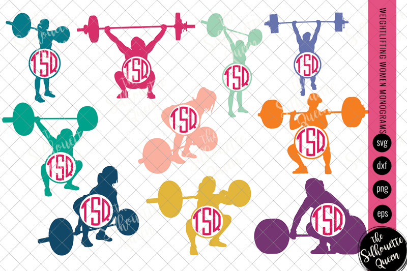 weightlifting-svg-monogram-circle-frames-cuttable-design-cut-files