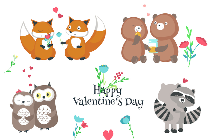 romantic-animals-couples-set