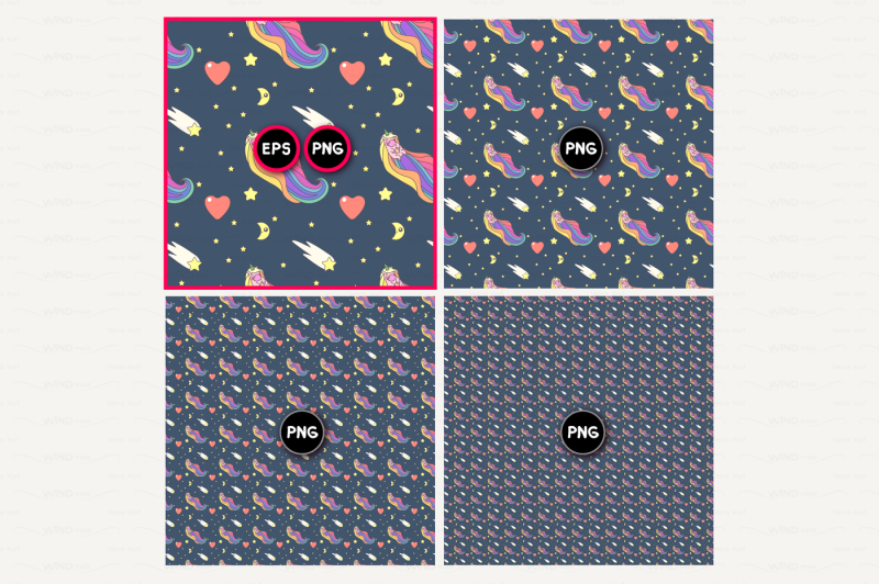 vector-unicorn-seamless-pattern