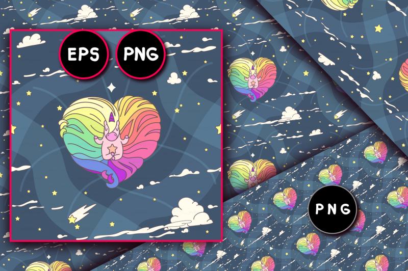 vector-unicorn-seamless-pattern