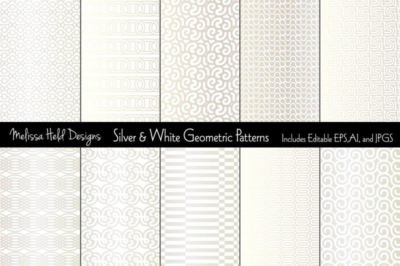 silver-and-white-mod-geometrics