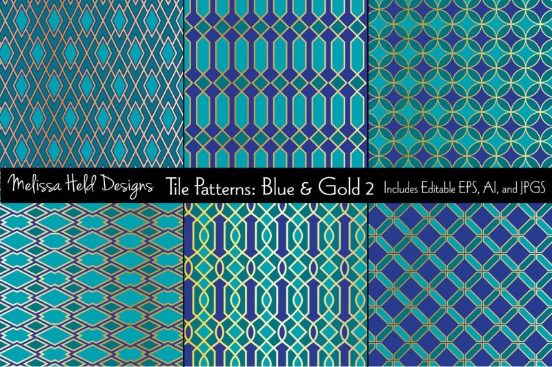 blue-and-gold-moroccan-patterns