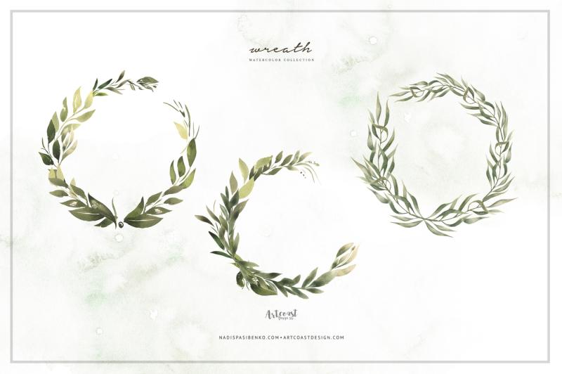 watercolor-greenery